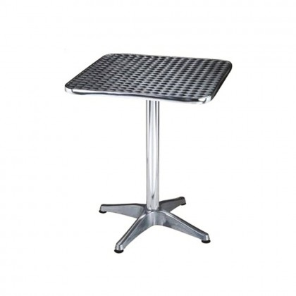 Tavolino tavolo 60x60h70 allumino arredamento esterno bar ristorante pub 4522