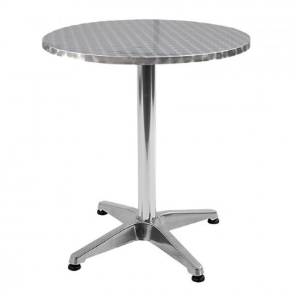 Tavolo tavolino bar ristorante in alluminio 60x70cm giardino esterno 780/48